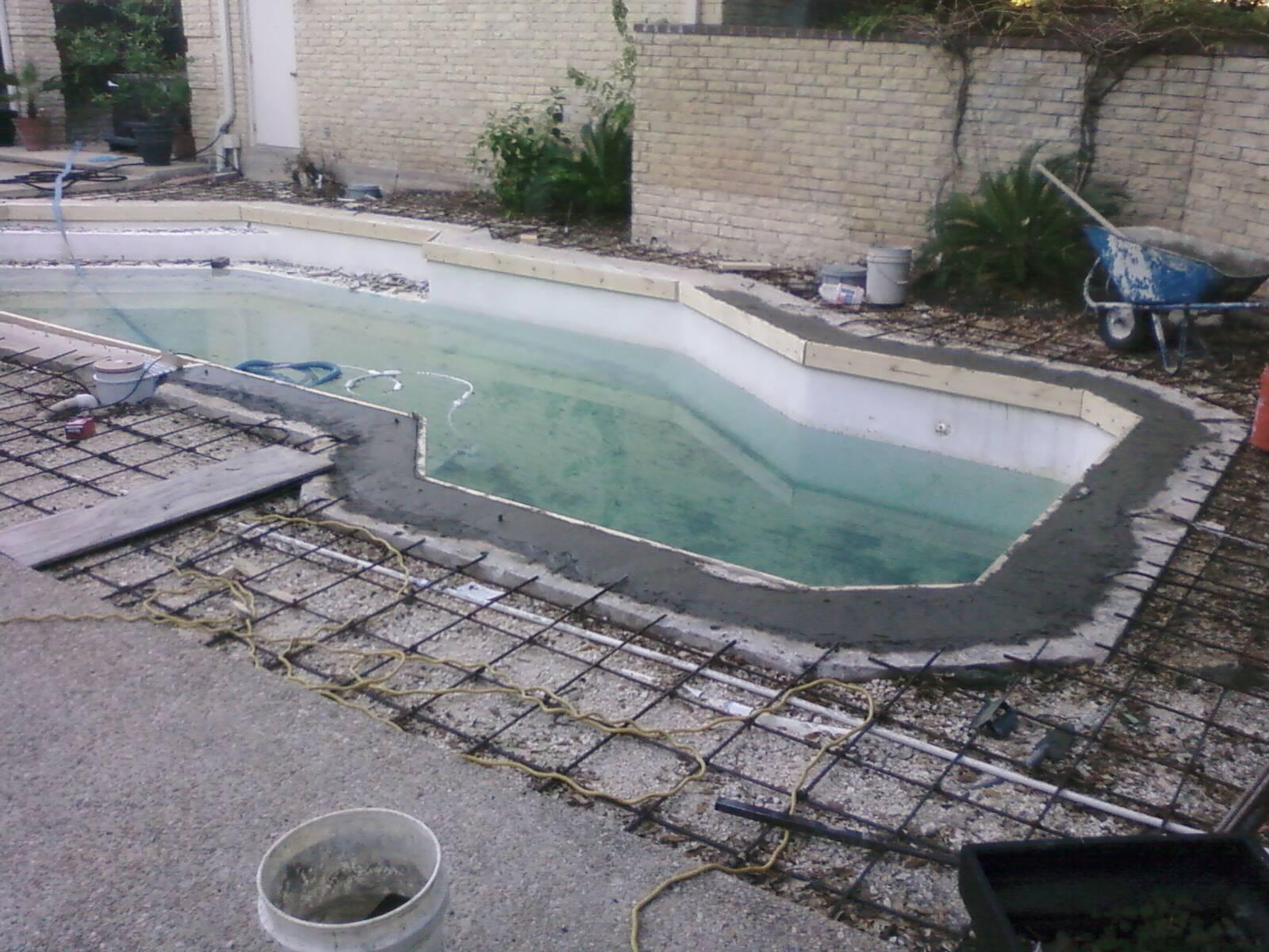 Pool Bond Beam Repair